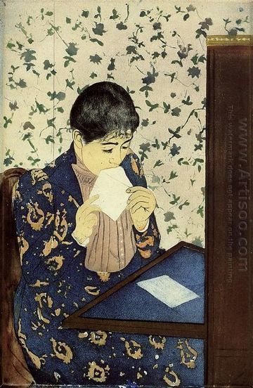 Oil painting reproduction: Mary Cassatt The Letter, 1890-91 - Artisoo.com | arts&oil | Scoop.it