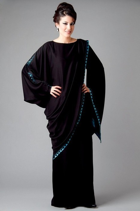 Latest Arabic Abaya Styles and Designs 2013-14 (Burkha Styles) | CHICS & FASHION | Scoop.it