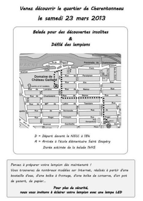 Le 23 mars à Charentonneau, Balade et défilés des lampions | Charentonneau | Scoop.it