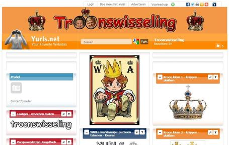 Knutsels, kleuren en meer: troonswisseling.yurls.net | Educatief Internet | Scoop.it