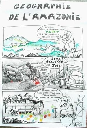 N°30 : Déforestation en Amazonie en bande dessinée | Coordenadas | Scoop.it