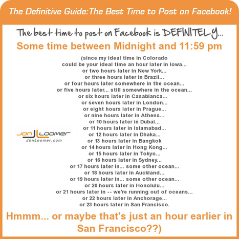 The Best Time to Post on Facebook is the Worst Time | Web Delvelopment Resources | Scoop.it
