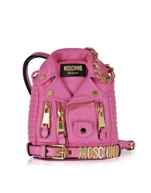 Moschino Nappa Leather Biker Jacket Backpack | Purses and Handbags | Scoop.it