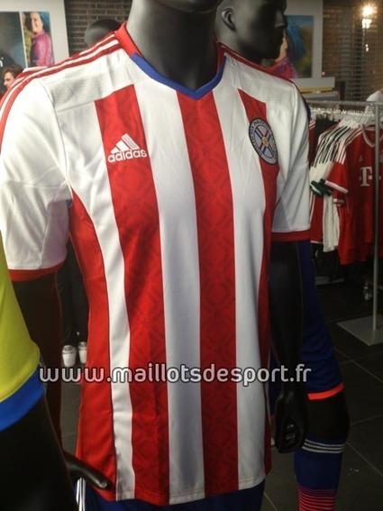 Paraguay : Maillot domicile 2014-2015 ! | Maillot de Sport | Scoop.it