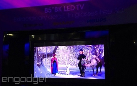 Here's Sharp's 85-inch 8K TV with glasses-free 3D | EDU Plan | Scoop.it