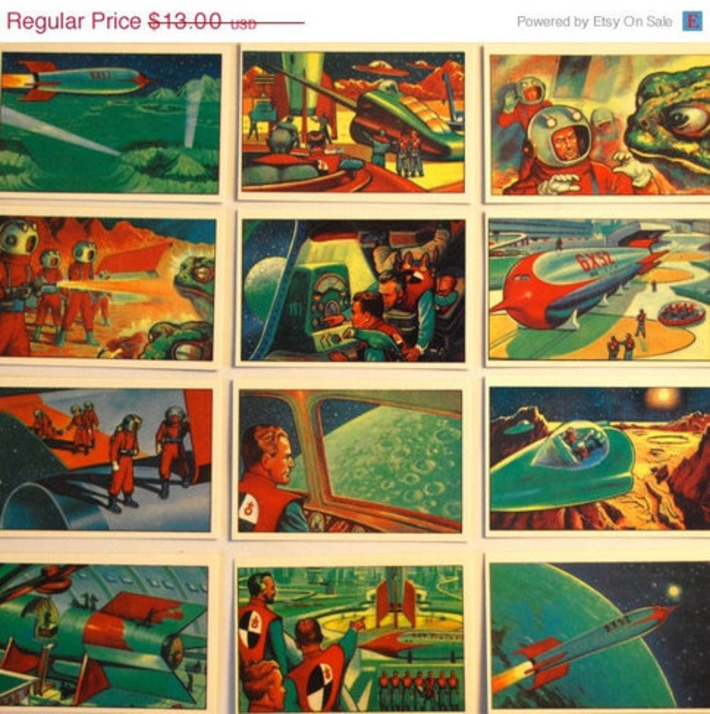 ON SALE Jets Rockets and Spacemen by WonderlandToys on Etsy | Kitsch | Scoop.it