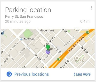 Parking location in Google Now - Search Help | Cartographie XY | Scoop.it