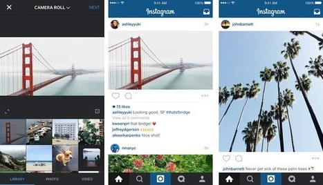 Instagram n'imposera plus les photos carrées | Social Media Curation par Mon-Habitat-Web.com | Scoop.it
