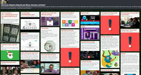 How do you integrate #coding into your library, classroom, and home? @shannonmmiller @padlet #makered | for Middle school learning | Scoop.it