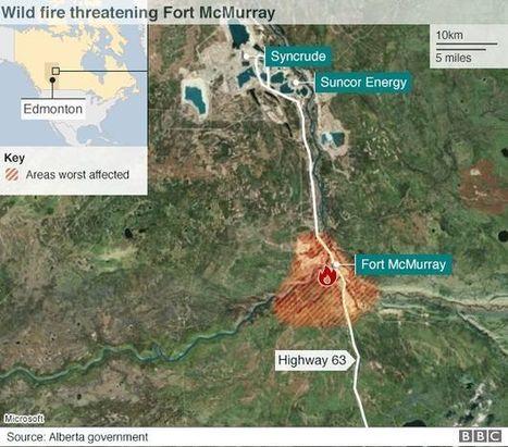 Canada fires cost oil sands production $760m - BBC News | International Economics: Pre-U Economics | Scoop.it