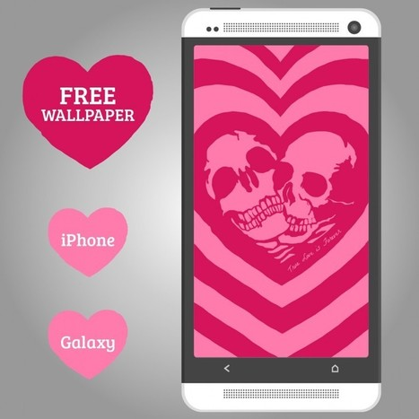 True Love Skulls Wallpaper for iPhone & Galaxy   DIY & Design Freebies   Scoop.it