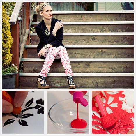 PRINTED FLORAL JEANS DIY | Fashion DIY | Scoop.it