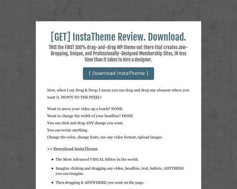 [GET] InstaTheme Review. Download. - Tackk | seo | Scoop.it