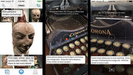 Trnio, une application de scan 3D gratuite sur iOS - Actualité sur 3DVF.com. | Divers | Scoop.it