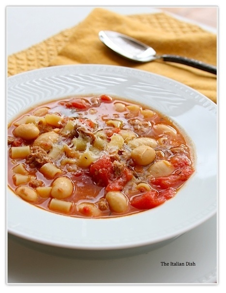 The Italian Dish - Posts - Sausage and Bean Soup with Pasta | Yummie Food | Scoop.it