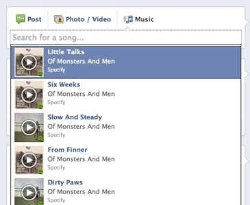 Spotify Searching, Sharing, Stats Added To Musical Artists' Facebook Pages   Veille Musique   Scoop.it