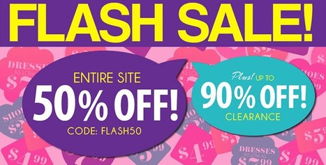 Pink Basis Flash Sale - 50% Off Entire Website - 12 Hours Only! | Pink Basis Discounts & Giveaways | Scoop.it
