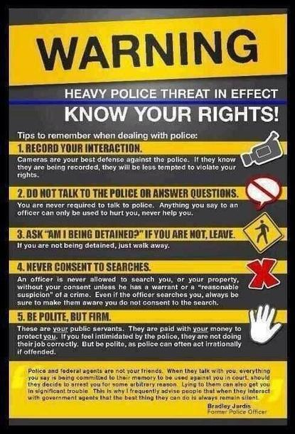 Twitter / peoplevsgreed: How to Handle a #police Interaction | THE  SPOT | Scoop.it