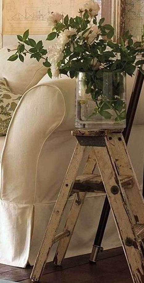 38 Ingenious Ways to Up-cycle Repurpose and Reuse Vintage Ladders | Homesthetics | Scoop.it