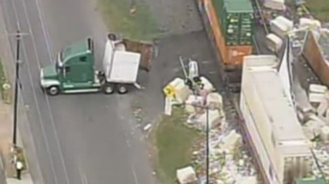 Train smashes through big rig full of cotton in NC   Prozac Moments   Scoop.it