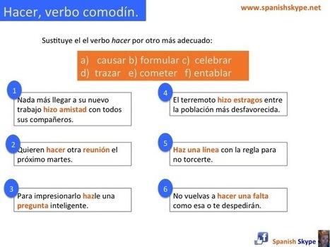 Hacer, verbo comodín. - SpanishSkype   Aprender español online via skype   Scoop.it