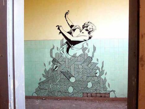 Eye-Popping Works of Street Art Made Using Masking Tape | Le It e Amo ✪ | Scoop.it