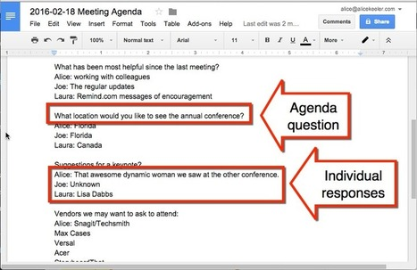 Agenda Doc: Send a Google Form and Create an Agenda | Web 2.0 for Education | Scoop.it