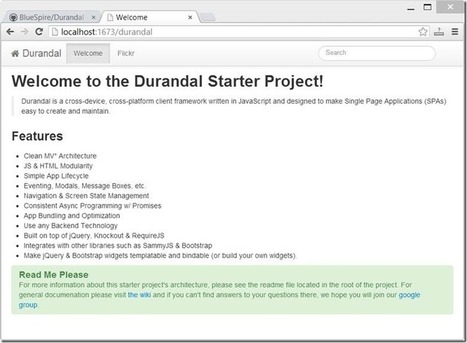 Using Durandal to Create Single Page Apps | Stephen Walther | ASP.Net Web Service | Scoop.it