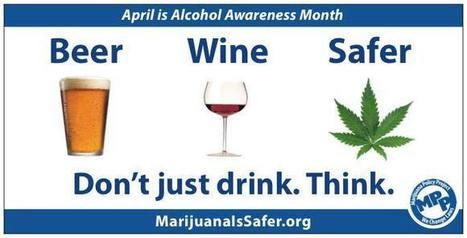 Pints vs. pot: New billboard says marijuana safer than alcohol | horse slaughter | Scoop.it