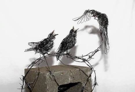 Wire Sculptures Resembling Energetic Line Drawings Capture Animals' Graceful Movements | Le It e Amo ✪ | Scoop.it