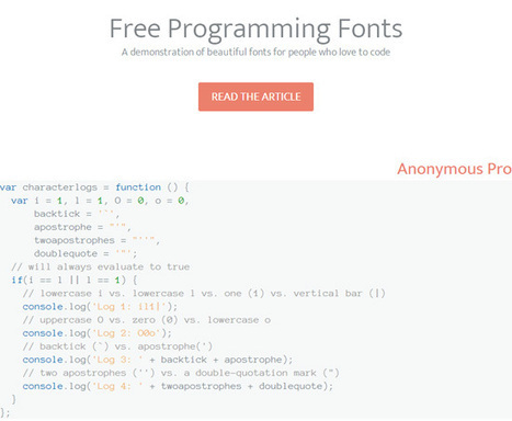 Top 10 Free Programming Fonts | Website Typography | Scoop.it