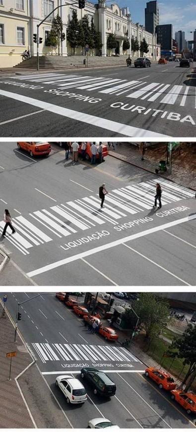 13 opérations marketing drôles et créatives sur des passages piétons | Habillage Urbain | Scoop.it