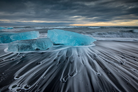Blue ice on the beach by Lucas Perrin | My Photo | Scoop.it