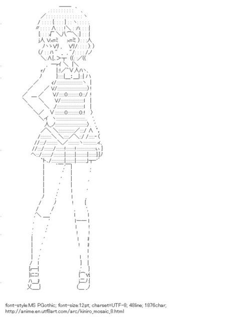Inokuma Yoko (Kiniro Mosaic) | ASCII Art | Scoop.it