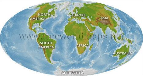 Free World Maps - Physical maps | Ciencias de la Geografía | Scoop.it