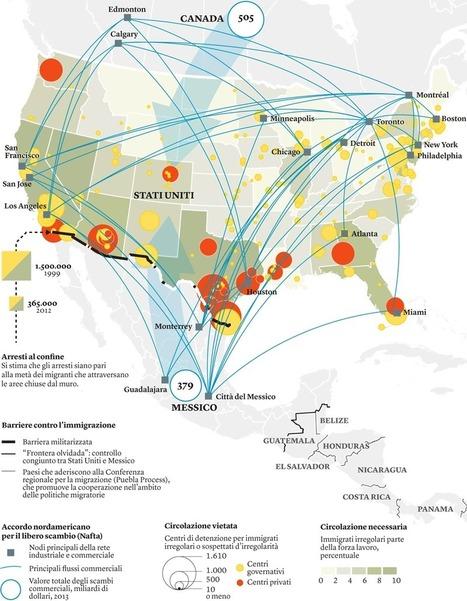 Carte : Mur, frontière et migrations entre Etats-Unis et Mexique (Cartographier le présent)   HG Sempai   Scoop.it