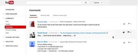 YouTube Launches New Comments Management Tool  | TechCrunch | consomacteur e-commerce | Scoop.it