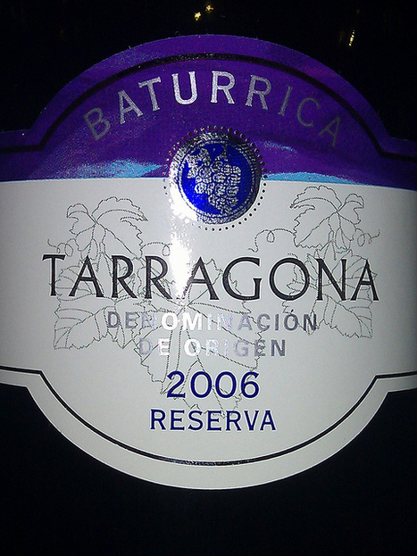 #vinhodanoite Baturrica Tarragona Reserva 2006 | Flickr - Photo Sharing! | #vinhodanoite | Scoop.it