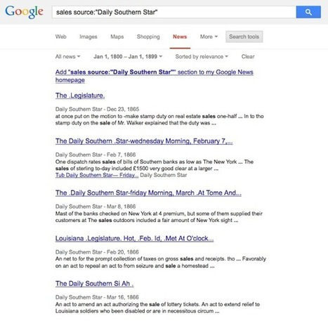 SearchReSearch: A note about searching Google Scanned Newspaper archives | Google Scholar | Scoop.it