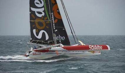 Sodebo chews off 1000nm in first three days of solo circumnavigation - Sail World | sodeboveille | Scoop.it