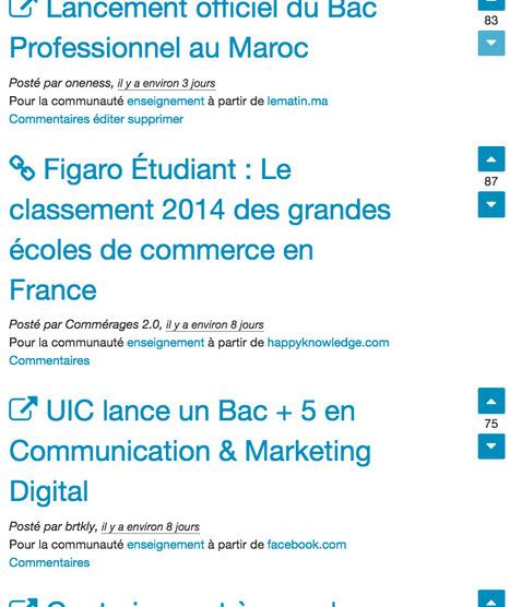 Une nouvelle façon de consommer l'info, les marocains choisissent les contenus les plus pertinents du Web | Enseignement supérieur marocain | Scoop.it