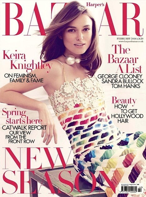 [cover + 6 pages inside] Keira Knightley shot by Alexi Lubomirski for Harper's Bazaar UK | February 2014 | Fashion & more... | Scoop.it