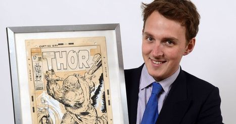 "Thor comic cover which hung on girl's wall for 30 years sold for £44,000 | Jack ""King"" Kirby 