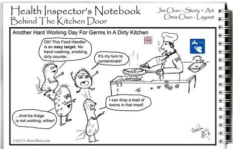Health Inspector Comics: Behind the Kitchen Door   Food Safety News   Food issues   Scoop.it