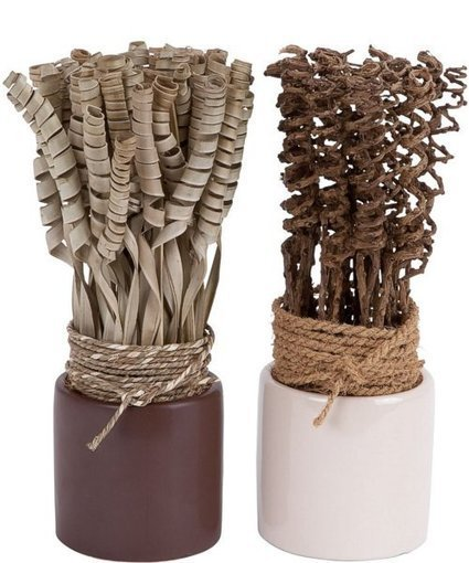 Uma Enterprises 2 Assorted Dried Floral with Ceramic Vase | Home - Office Accessories | Scoop.it