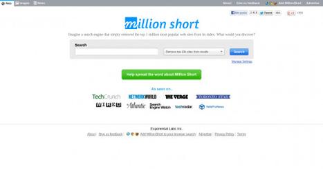 Million Short: Encuentra resultados omitidos por otros motores de búsqueda   El rincón de mferna   Scoop.it