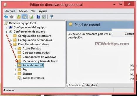 Como Bloquear el Acceso al Panel de control Windows 8 | PCWebtips.com | Windows PC - Trucos y Tips | Scoop.it