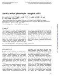 Healthy urban planning in European cities | aktibili | vic_Ciutats | Scoop.it