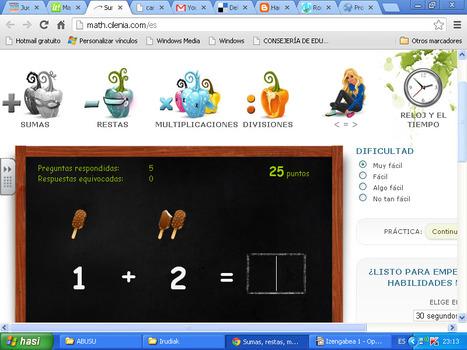 Sumas, restas, multiplicaciones y divisiones, problemas con números: 10, 20 y 100 | Matematikahaurhezkuntzan | Scoop.it