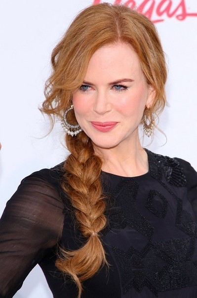 Copper Hair: Messy Side Braided Hairstyle 2014 – Nicole Kidman's Hairstyle | Beauty | Scoop.it